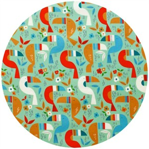 Alexander Henry, Toucan Zoo Turquoise Multi