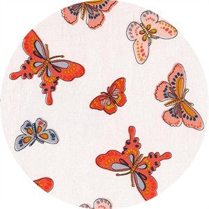 Michael Miller, Daisy Paisley, All-a-flutter Coral