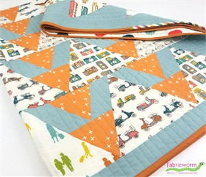 Sassafras Lane Designs, Sewing Pattern, Alligator Alley Quilt Kit featuring Birch Organic Fabrics