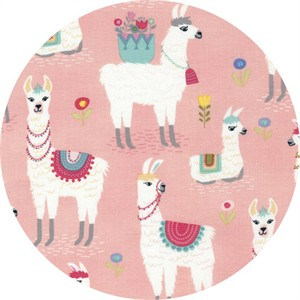 Timeless Treasures, Alpaca Outing, Alpaca Pink
