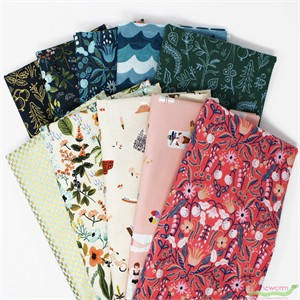 Rifle Paper Co. for Cotton and Steel, Amalfi in FAT QUARTERS 10 Total (PRECUT)