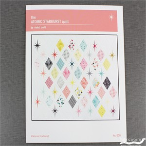 Violet Craft, Sewing Pattern, The Atomic Starburst Quilt