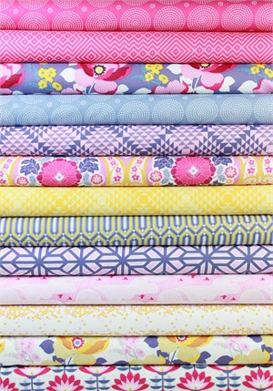 Joel Dewberry, Atrium, Pink in FAT QUARTERS 13 Total