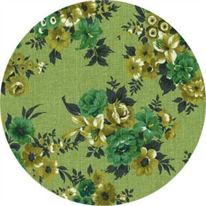 Gertrude Made for Ella Blue Fabrics, Outback Wife, BARKCLOTH, Alys Green