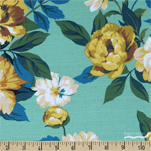 Gertrude Made for Ella Blue Fabrics, Outback Wife, BARKCLOTH, Anna Teal