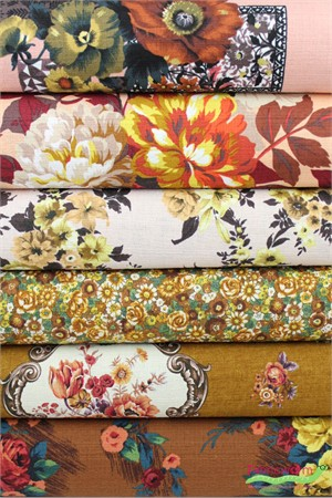 Gertrude Made for Ella Blue Fabrics, Outback Wife, BARKCLOTH, Golden Apricot 6 Total