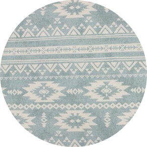 Japanese Import, BARKCLOTH, Southwest Soft Blue