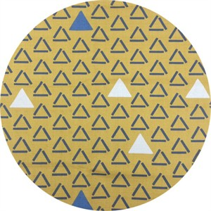 Japanese Import, BARKCLOTH, Triangular Mustard