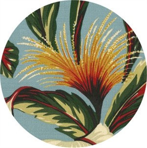 Hoffman Fabrics, On The Lanai BARKCLOTH, Tropical Robin