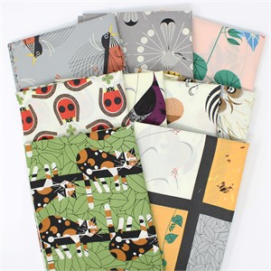 Charley Harper for Birch Organic Fabrics, Backyard 9 Total