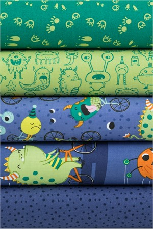 Clothworks, Super Bad Monsters Nighttime in FAT QUARTERS 5 Total
