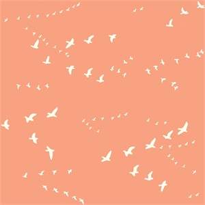 Birch Organic Fabrics, Birch Basics, Flight Peachy