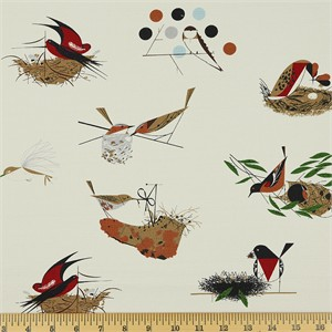 Charley Harper for Birch Organic Fabrics, Bird Architects, BARKCLOTH, Bird Architects Main