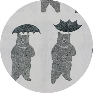 Japanese Import, CANVAS, Bearly Rainy White