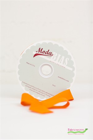 "Moda, Bella Solids 2 1/4"" Quilter's Bias Binding, Orange"