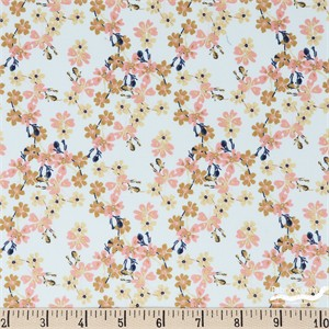 Teresa Chan for Camelot Fabrics, Berry Blossoms, Berri Blossoms Aqua