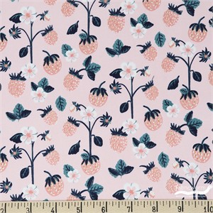 Teresa Chan for Camelot Fabrics, Berry Blossoms, Berries Pink