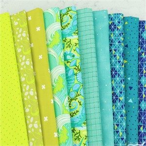 Fabricworm Custom Bundle, Bioluminescence in FAT QUARTERS 10 Total
