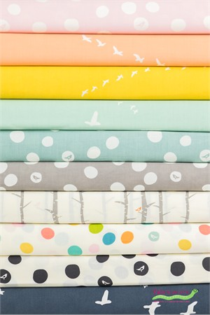 Birch Organic Fabrics, Birch Basics in FAT QUARTERS 10 Total
