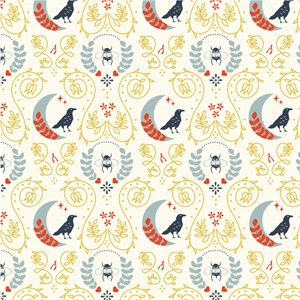 Arleen Hillyer for Birch Organic Fabrics, Merryweather, Birds and the Bees