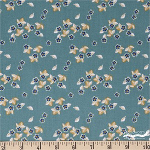Teresa Chan for Camelot Fabrics, Berry Blossoms, Blossoms Teal