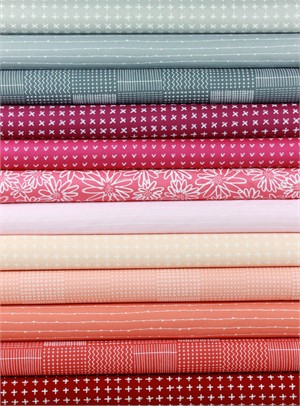 Karen Lewis for Robert Kaufman, Blueberry Park, Spring in FAT QUARTERS 12 Total