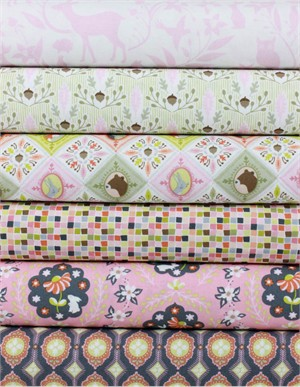 Ana Davis for Blend, Born Wild, Pink in FAT QUARTERS 5 Total