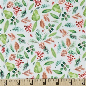 COMING SOON, Sara Berrenson for Camelot Fabrics, Winter Woods, Bountiful White