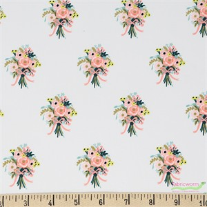 Rifle Paper Co. for Cotton and Steel, English Garden, Bouquets Cream