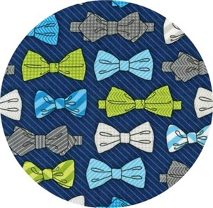 Andie Hanna for Robert Kaufman, Fox and the Houndstooth, Bowties Navy
