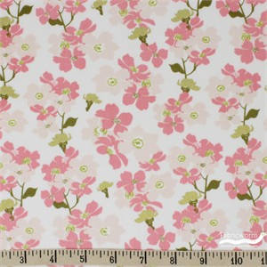 Teresa Chan for Camelot Fabrics, Up, Up and Away, Branch Pink Metallic
