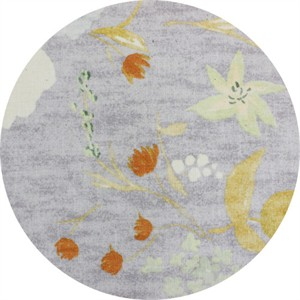 Nani Iro, BRUSHED CANVAS, Birds and Blooms Lavender