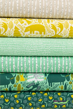 Moda, Big Sky Montana Forest in FAT QUARTERS 6 Total