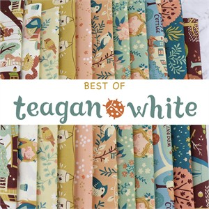 AVAILABLE FOR PREORDER, Teagan White for Birch Organic Fabrics, Best of Teagan White in FAT QUARTERS 11 Total