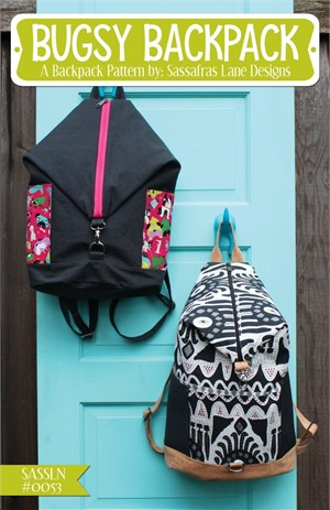 Sassafras Lane Designs, Sewing Pattern, Bugsy Backpack Bag and Hardware