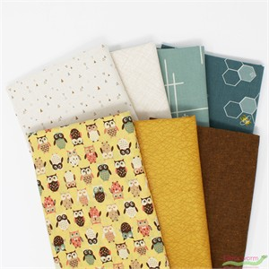 Fabricworm Custom Bundle, Busy Buds in FAT QUARTERS 7 Total