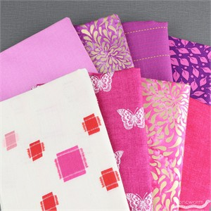 Fabricworm Custom Bundle, Butterfly Kisses in FAT QUARTERS 8  Total