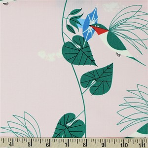 AVAILABLE FOR PREORDER, Charley Harper for Birch Organic Fabrics, Backyard, Hummingbirds