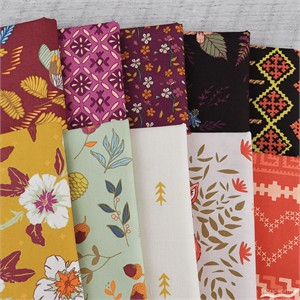 Maureen Cracknell for Art Gallery, Autumn Vibes, By the Chimney in FAT QUARTERS 10 Total