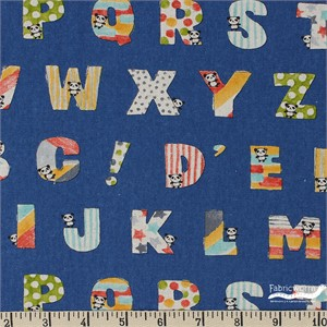 Japanese Import, Kyururu CANVAS, Alphabet Blue