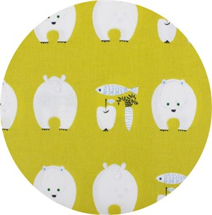 Japanese Import, CANVAS, Bears Bounty Yellow