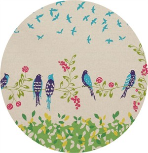 Echino, Birding CANVAS, Birdsong Green Border Print