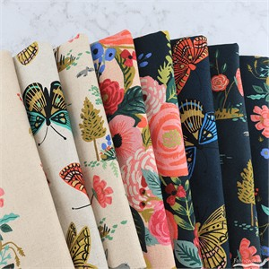 Rifle Paper Co. for Cotton and Steel, English Garden, CANVAS in FAT QUARTERS 8 Total