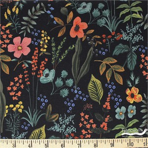 Rifle Paper Co. for Cotton and Steel, Amalfi, CANVAS, Herb Garden Midnight
