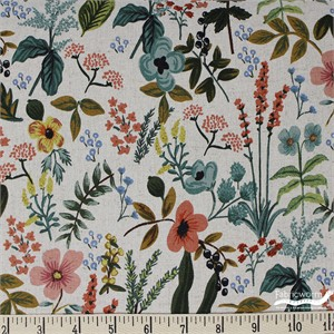 Rifle Paper Co. for Cotton and Steel, Amalfi, CANVAS, Herb Garden Natural