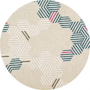 Japanese Import, Summer Vibes CANVAS, Honeycomb Stripe Natural