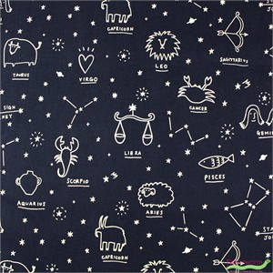 Japanese Import, CANVAS, Horoscope Twinkle Navy
