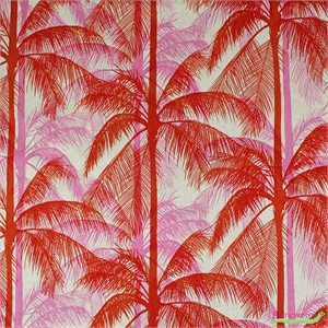 Cotton and Steel, Poolside, CANVAS, Palms Pink