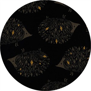 Sarah Watts for Cotton and Steel, Sleep Tight, CANVAS, Prickles Black Metallic