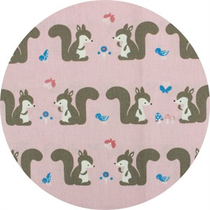 Japanese Import, CANVAS, Squirrelfriends Pink